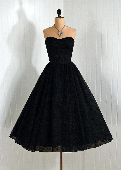 Vintage Hepburn little black dress replica cocktail evening dress UK