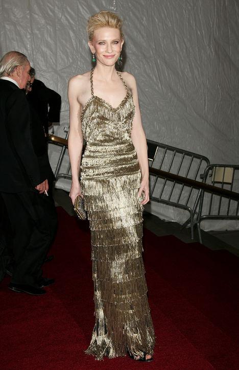 Cate Blanchett's balenciaga metallic sequined evening dress