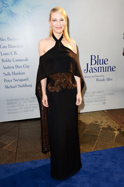 Cate Blanchett's black halter strapless evenign dress
