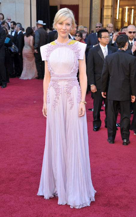 Cate blanchett's lilac purple lace pleated skirt evening dress