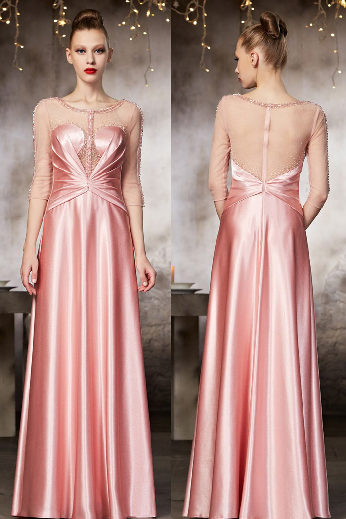 pink-evening-dress-with-long-sleeves