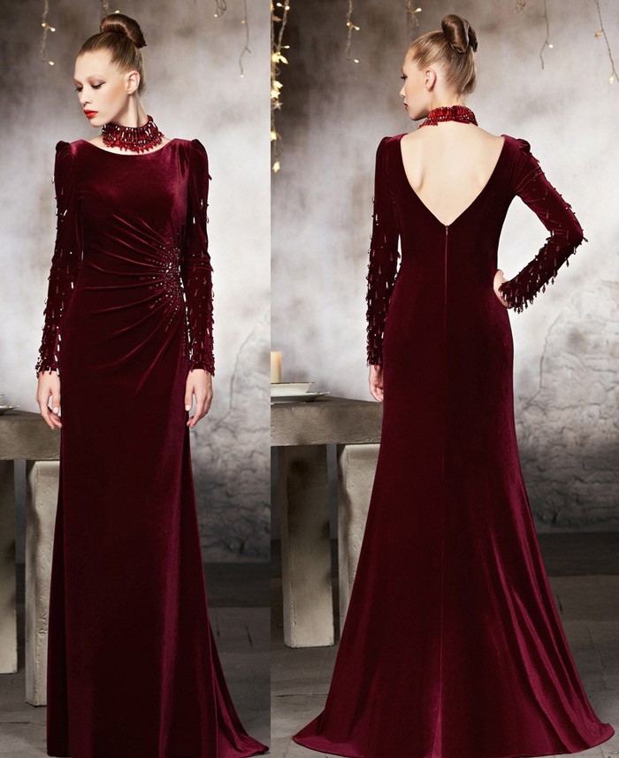 red-evening-dress-with-long-sleeves