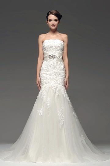 buy discount lace mermaid style wedding dresses UK online