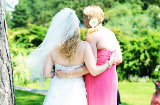 bride and bridesmaid friendship