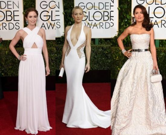 72nd Golden Globe Awards white dresses