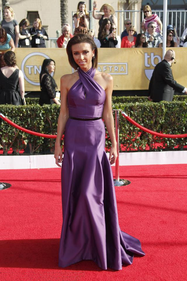 Giuliana Rancic's purple halter party dress
