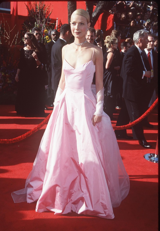 Gwyneth Paltrow pink prom gown