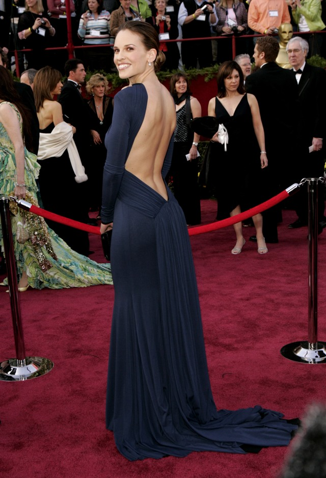 Hilary Swank red carpet dress