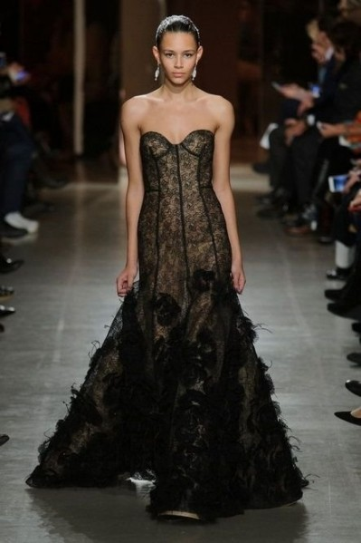 Oscar de la Renta black evening dress