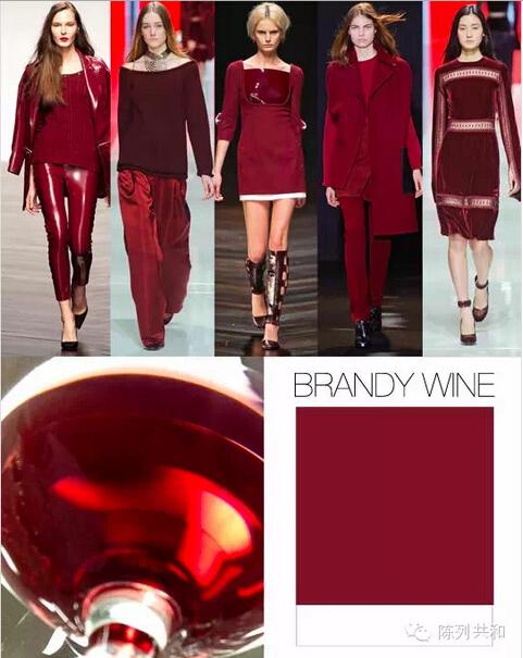 Burgundy color fashion dress