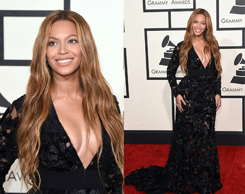 Beyonce-sexy-black-lace-dress