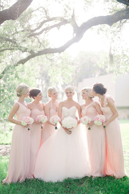 pink-long-Bridesmaid-Dresses