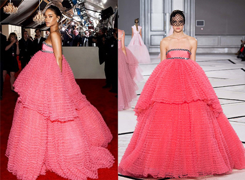 rhihanna grammy-pink-prom-gown