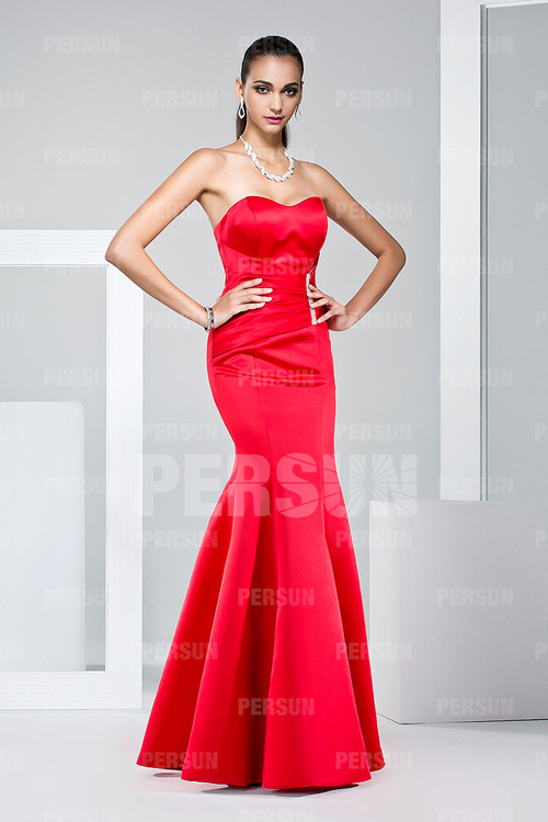 mermaid-red-prom-gown
