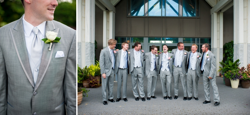gray groom dress