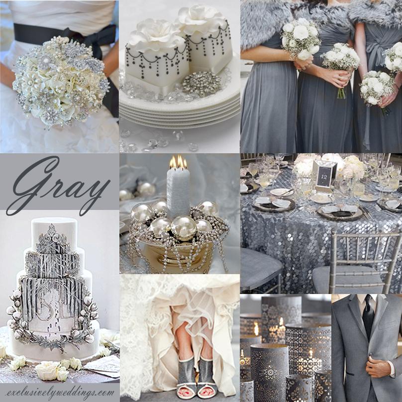 gray wedding theme