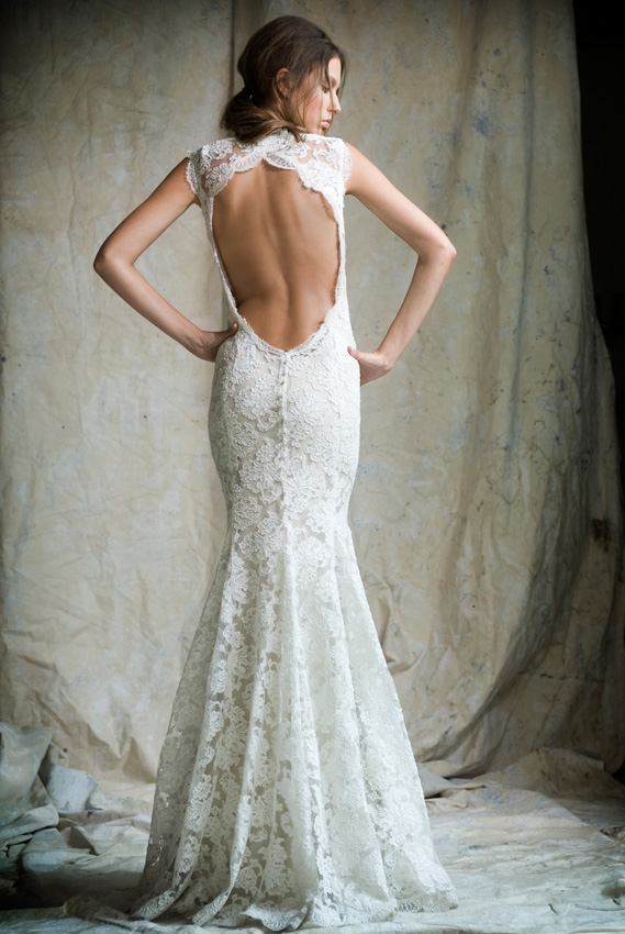 The Cut Backs Open Back Wedding Dress