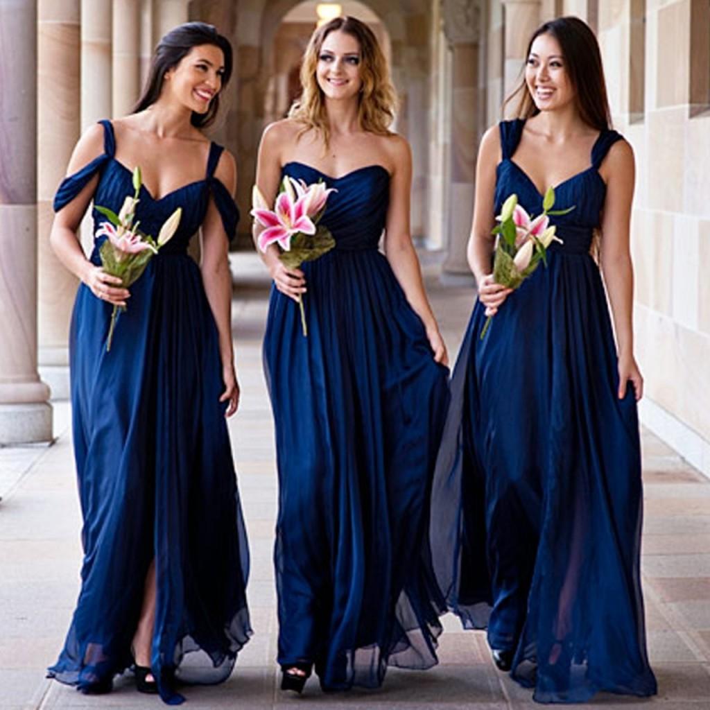 blue Bridesmaid Dresses AU